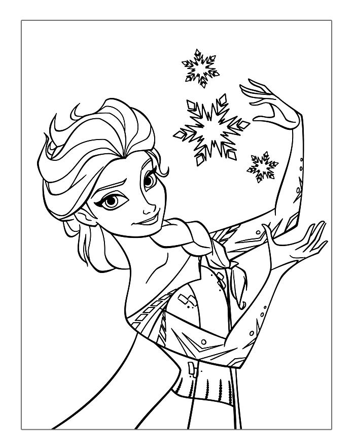Frozen coloring pages elsas magic
