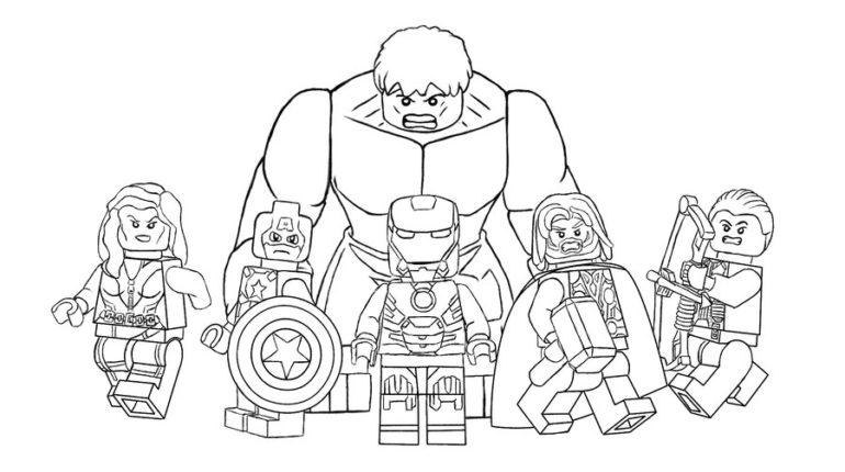 Marbel Imagenes Para Colorear: Dibujos Para Colorear Avengers De Marvel