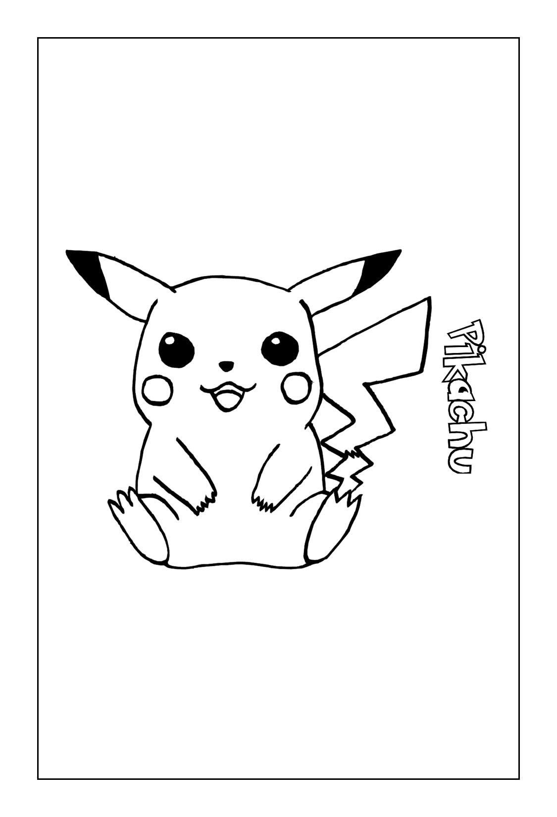 Pikachu Coloring Page Printable