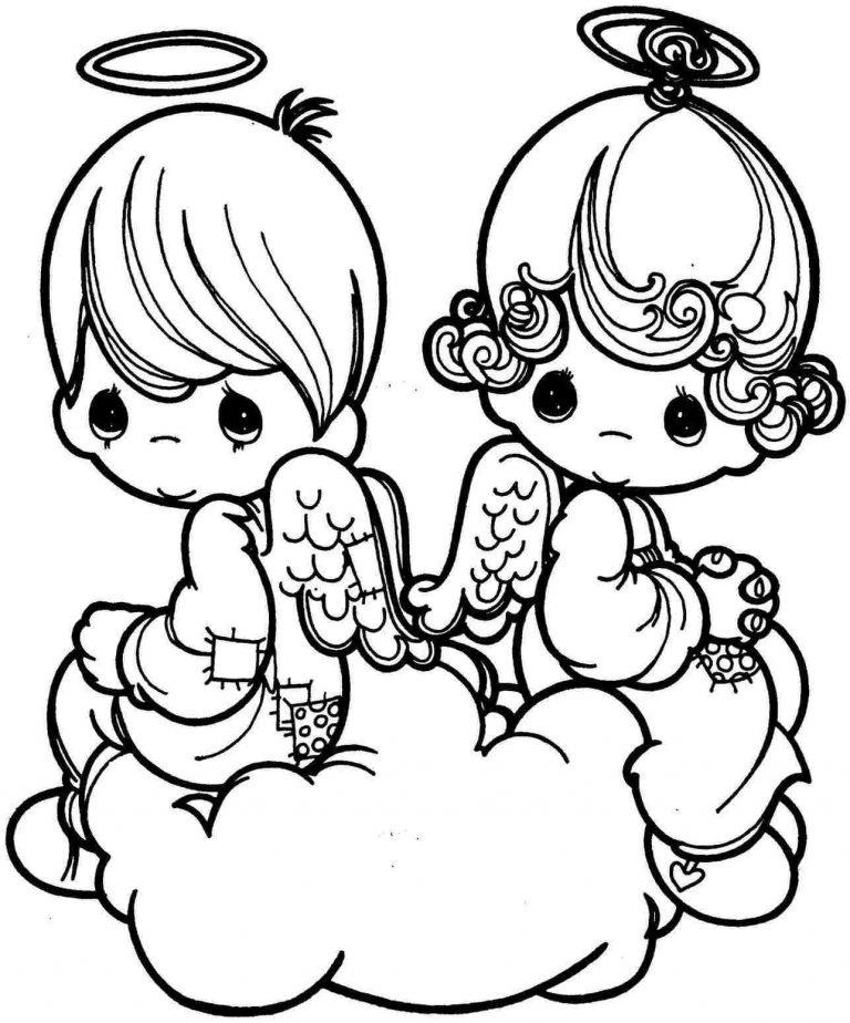 Precious Cupids Coloring Page
