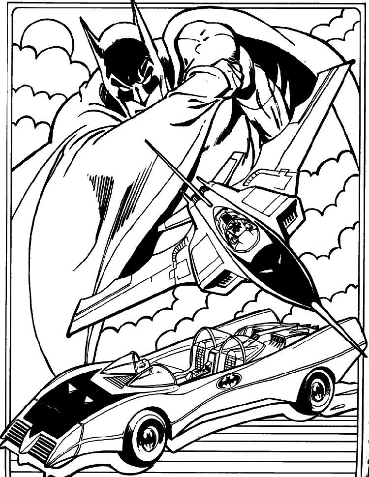 batman coloring batmobile