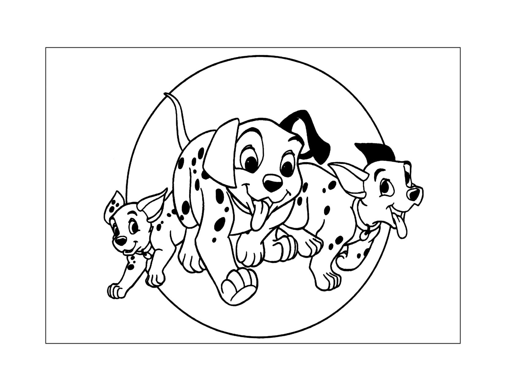 101 Dalmatians Printable Coloring Pages