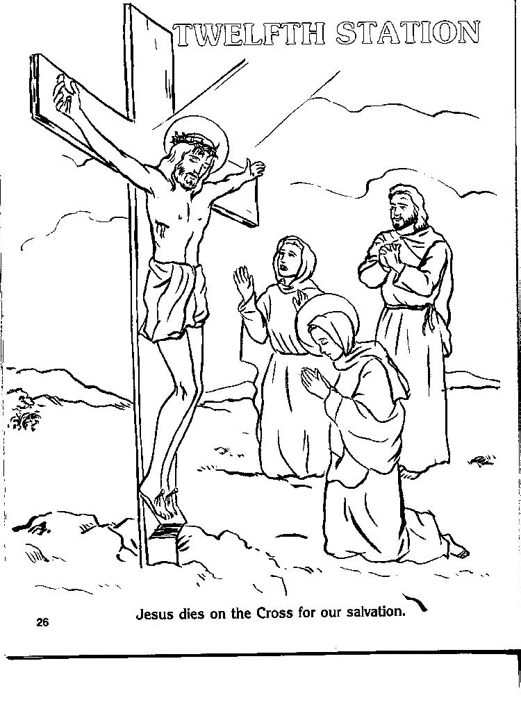 12 Station of the Cross Coloring Page