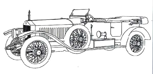 1910s Rolls Royce Car Coloring Pages