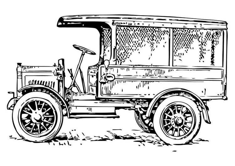 1910s Truck - Car Coloring Pages
