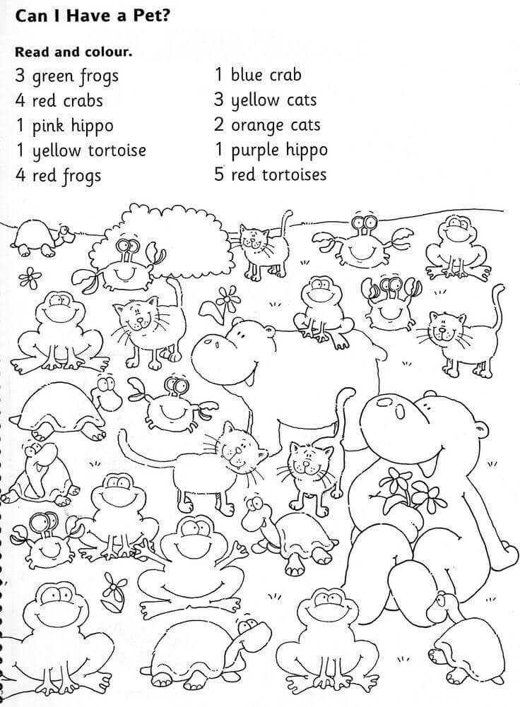 1st Grade Coloring Worksheet – Coloring.rocks!