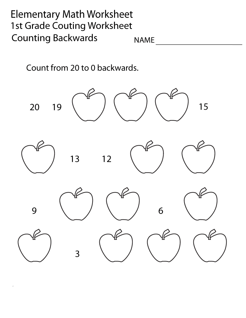 - 1st Grade Worksheets – Math – Coloring.rocks!