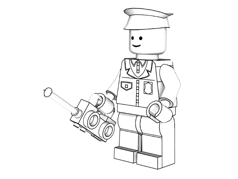 Lego Police Officer coloring page | Free Printable Coloring Pages | 600x800