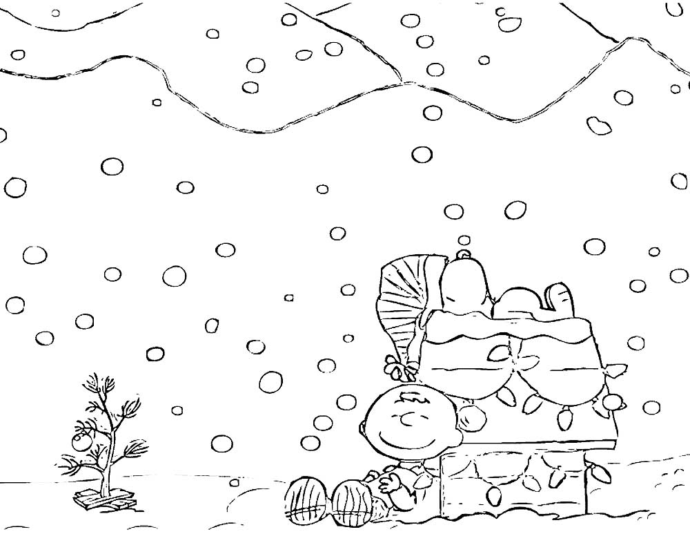Charlie Brown Christmas Coloring Pages ⋆ coloring.rocks!