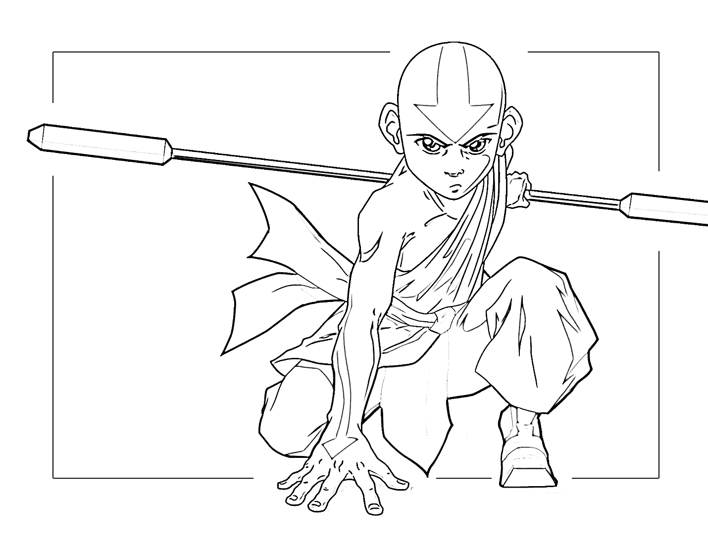 Aang Avatar Coloring Page