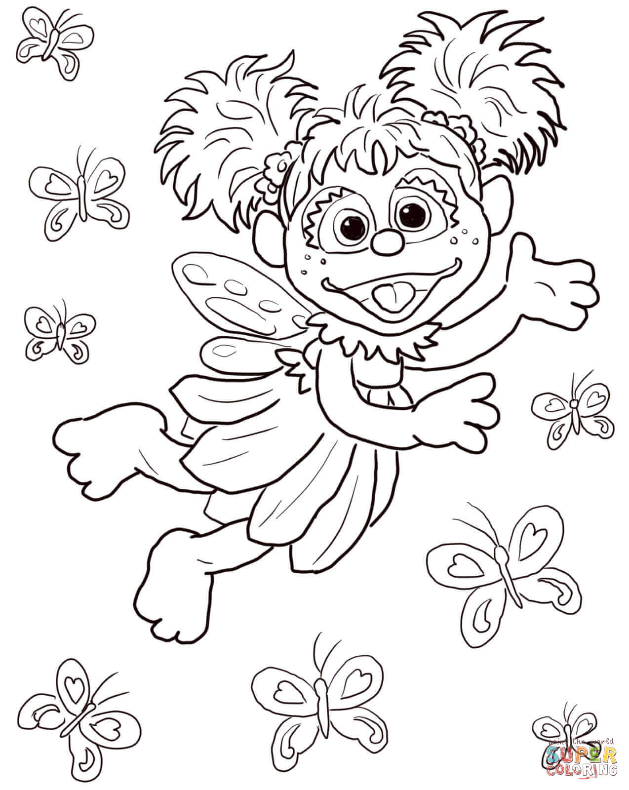Abby Cadabby Sesame Street Coloring Pages