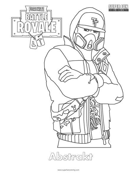 Abstrakt Fortnite Coloring Pages