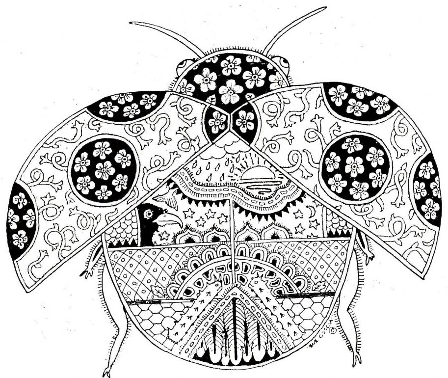 Adult Ladybug Coloring Pages