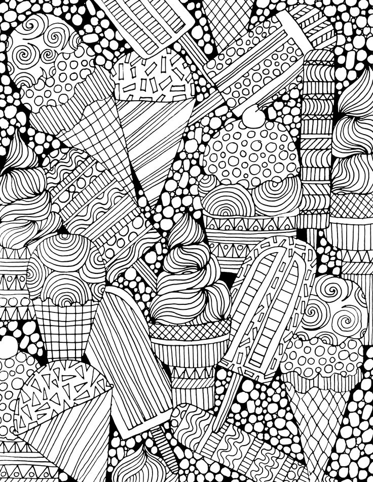 Advanced Ice Cream Coloring Page