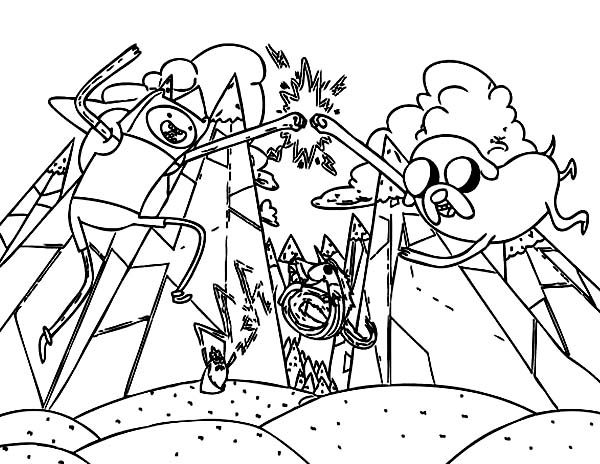 Adventure Time Coloring Pages for Boys