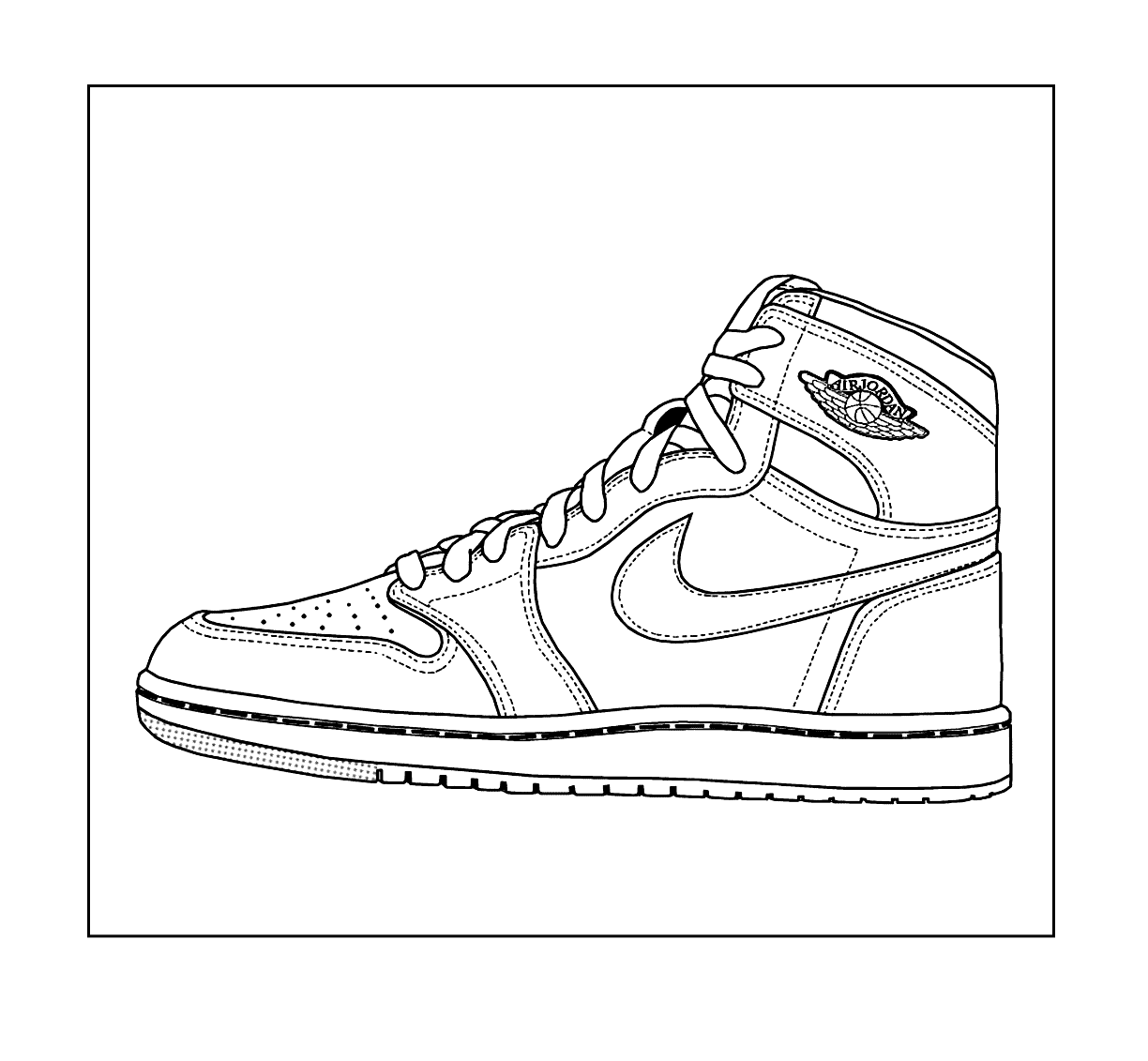 - Air Jordan Sneaker Shoe Coloring Page – Coloring.rocks!