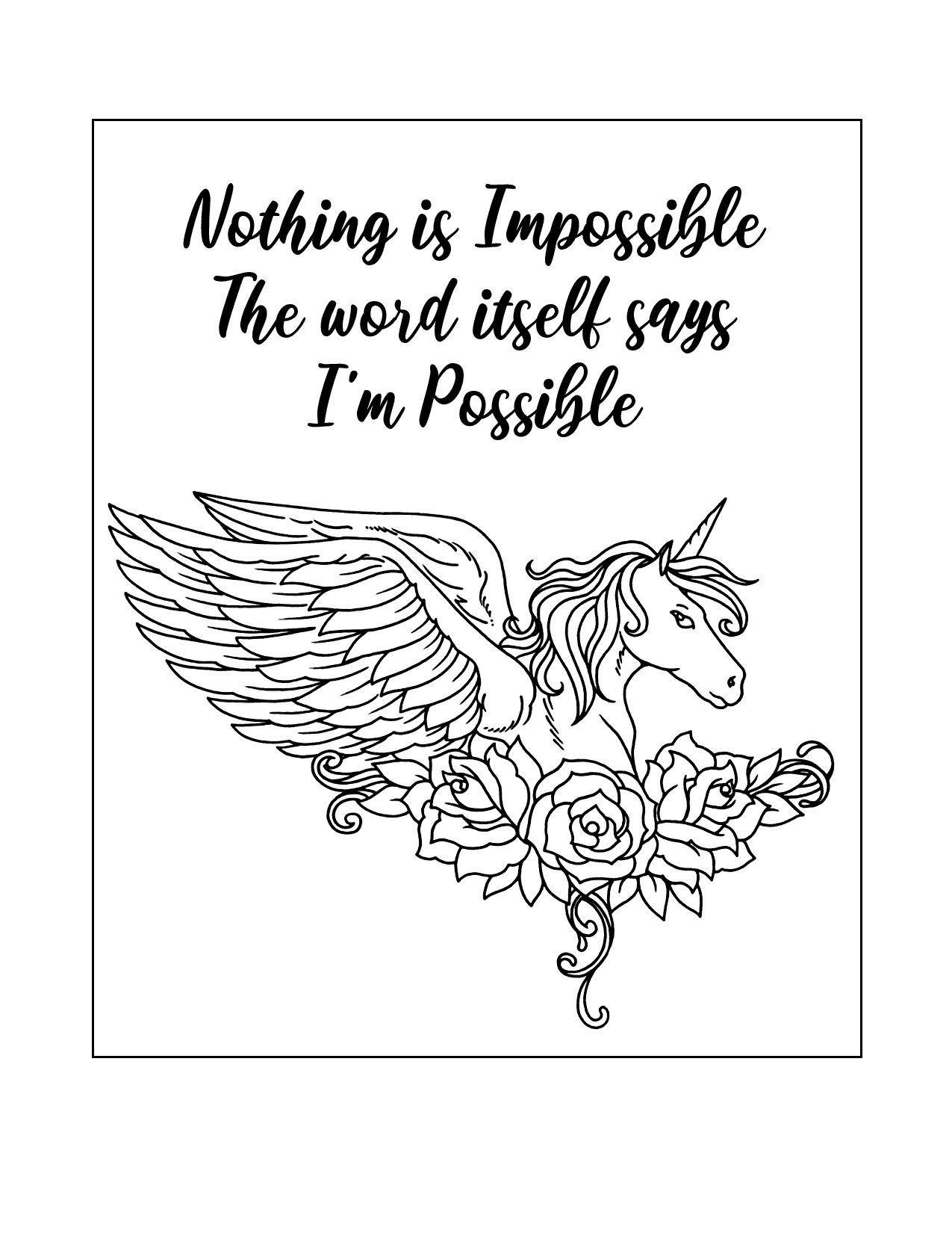 Alicorn Possibility Coloring Page