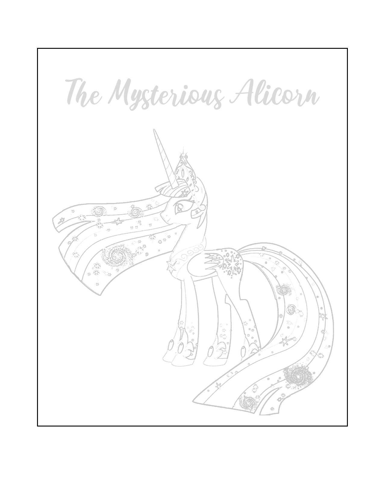 Alicorn Tracing Sheet