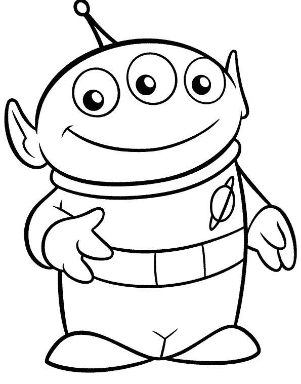 Alien Toy Story Coloring Pages