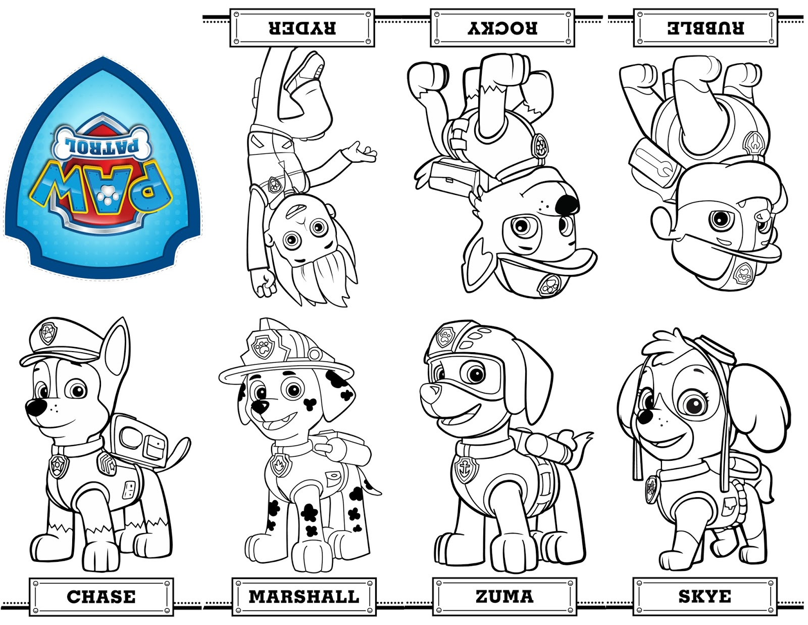- Paw Patrol Coloring Pages – Coloring.rocks!