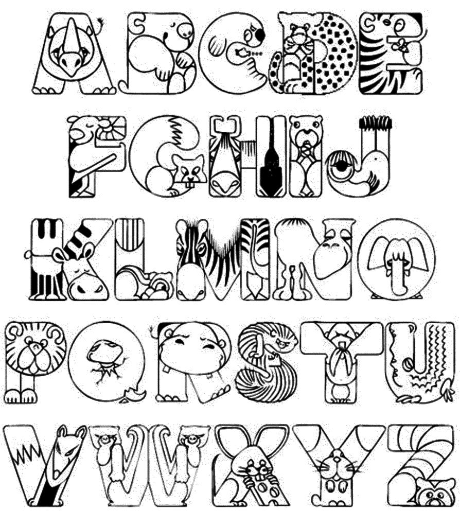 Alphabet Kindergarten Coloring Page