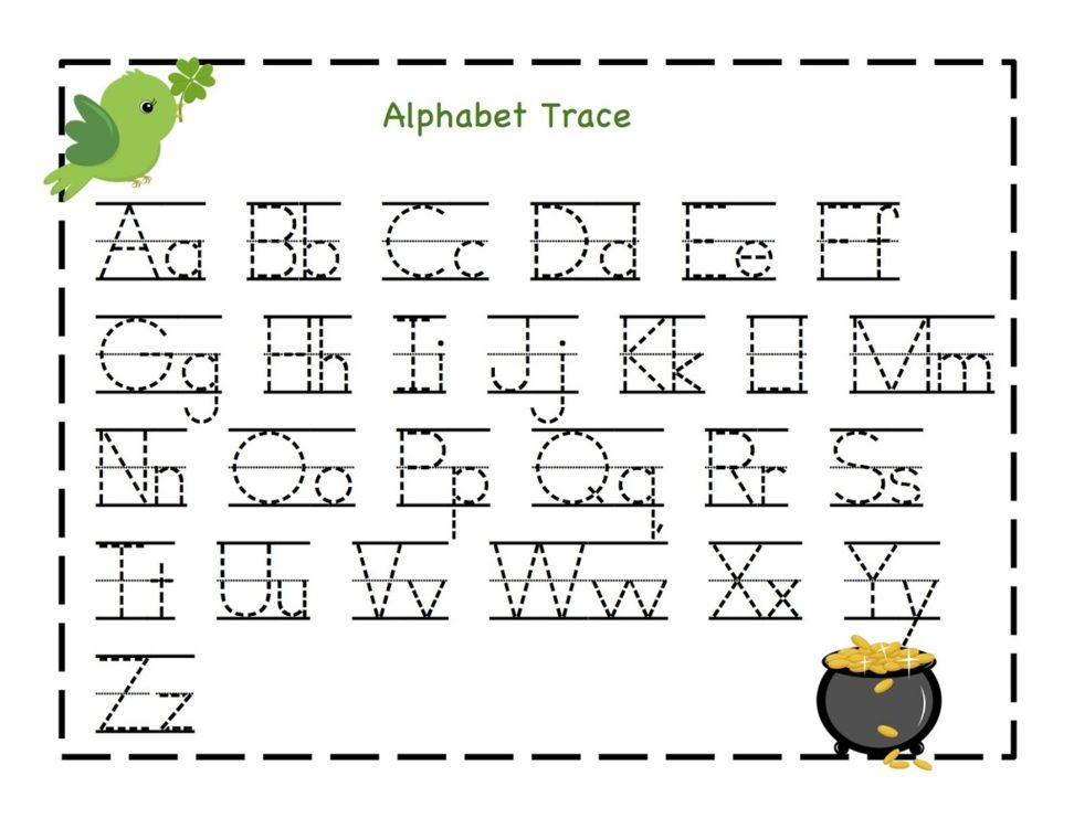 Alphabet Trace Worksheet for Kindergarten