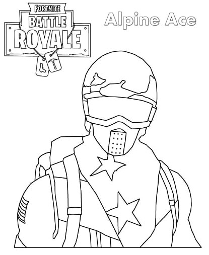 Alpine Ace Fortnite Coloring Pages