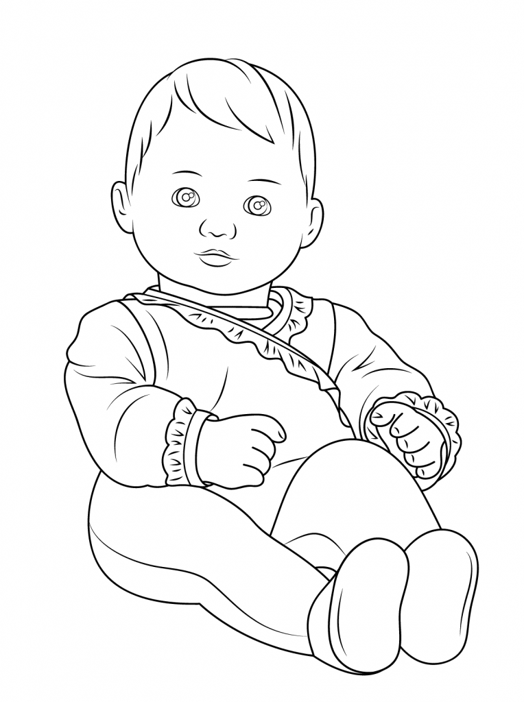 American Girl Bitty Baby Doll Coloring Pages