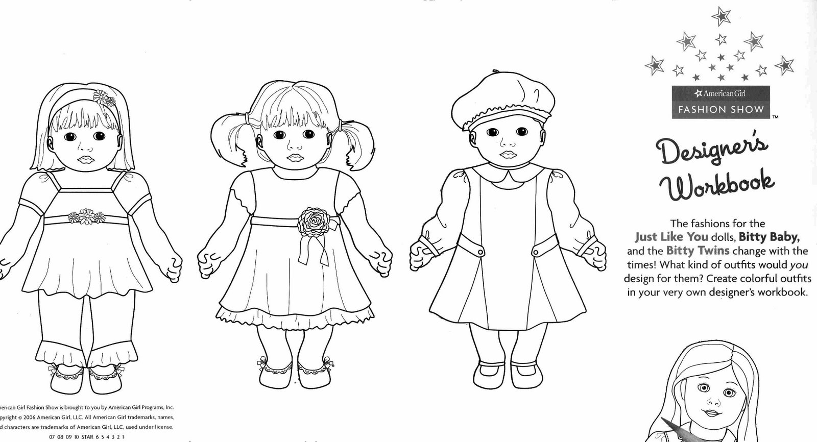 American Girl Doll Bitty Baby Coloring Pages