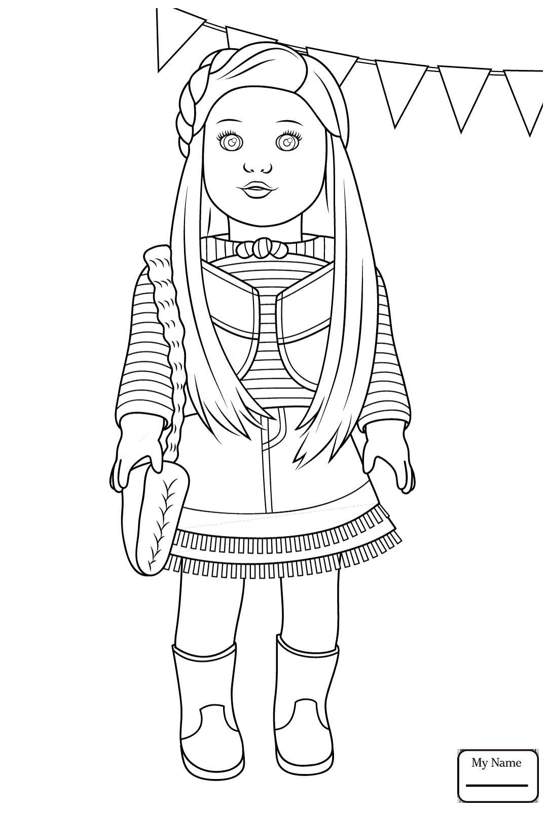 American Girl Doll Coloring Pages – coloring.rocks!