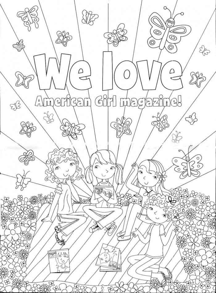 American Girl Doll Magazine Coloring Pages