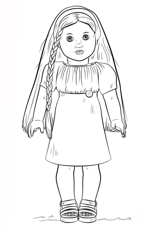 American Girl Doll Printable Coloring Page