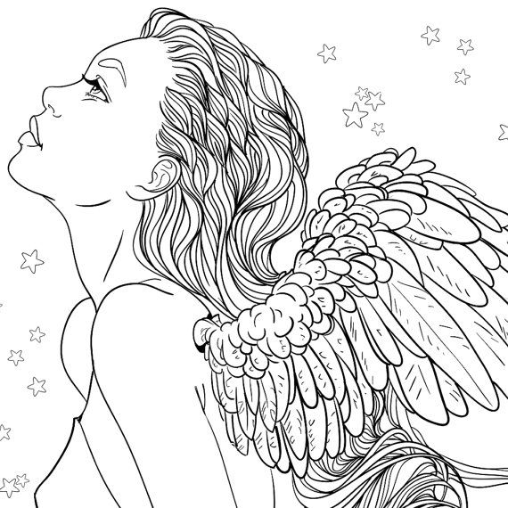 Angel Girl Coloring Pages