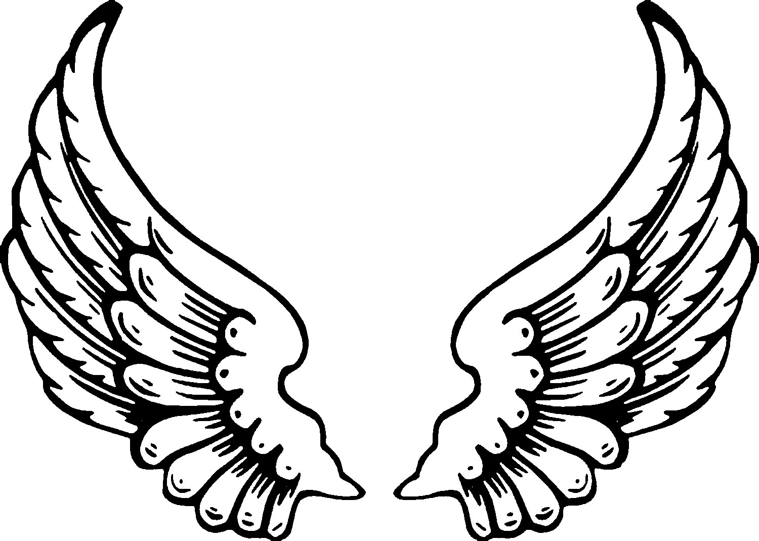Angel WIngs Coloring Page