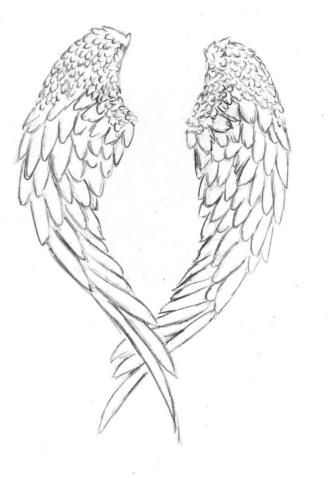 Angel Wing Printable Drawing