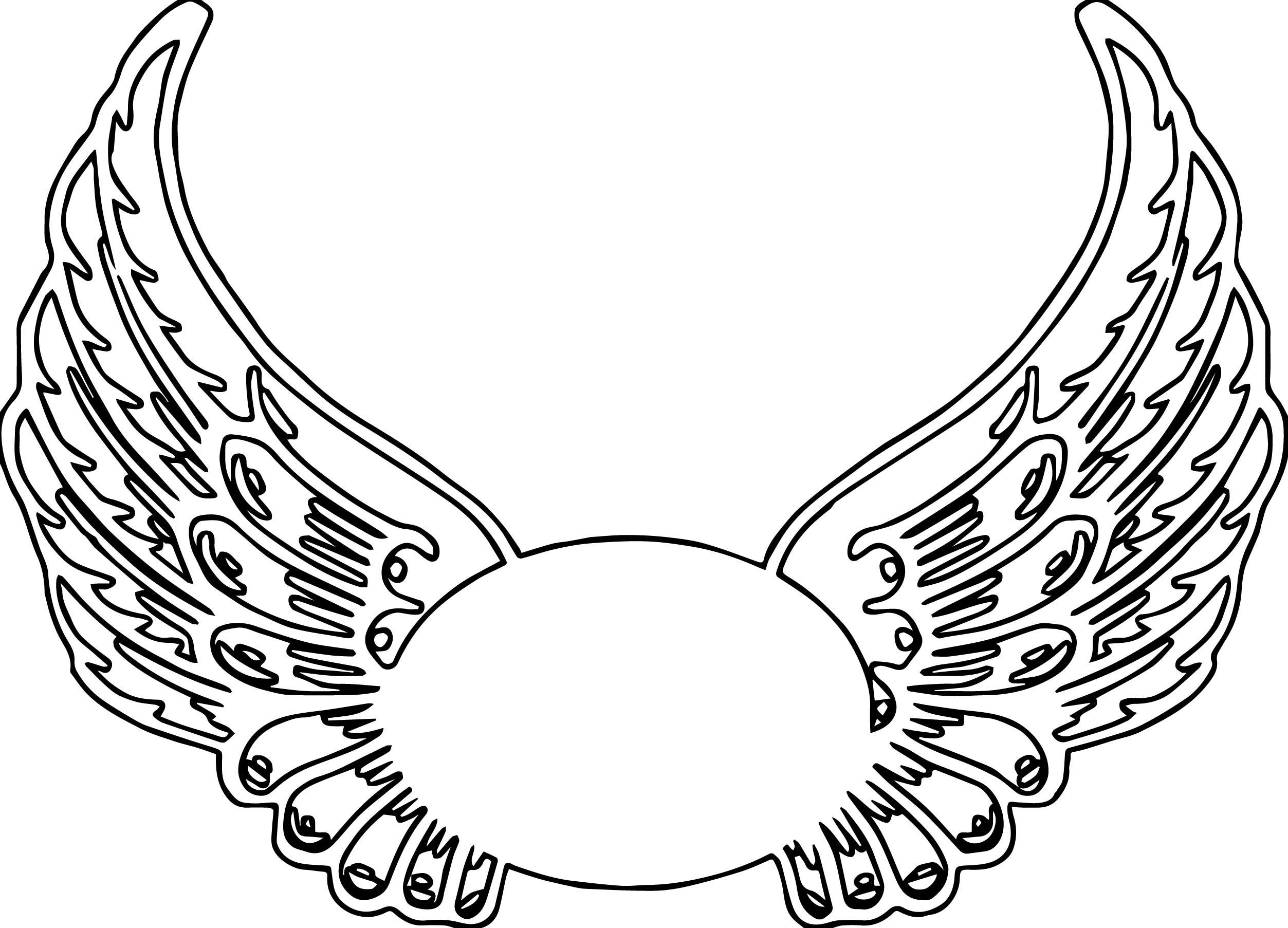 Angel Wings Coloring Page Printable