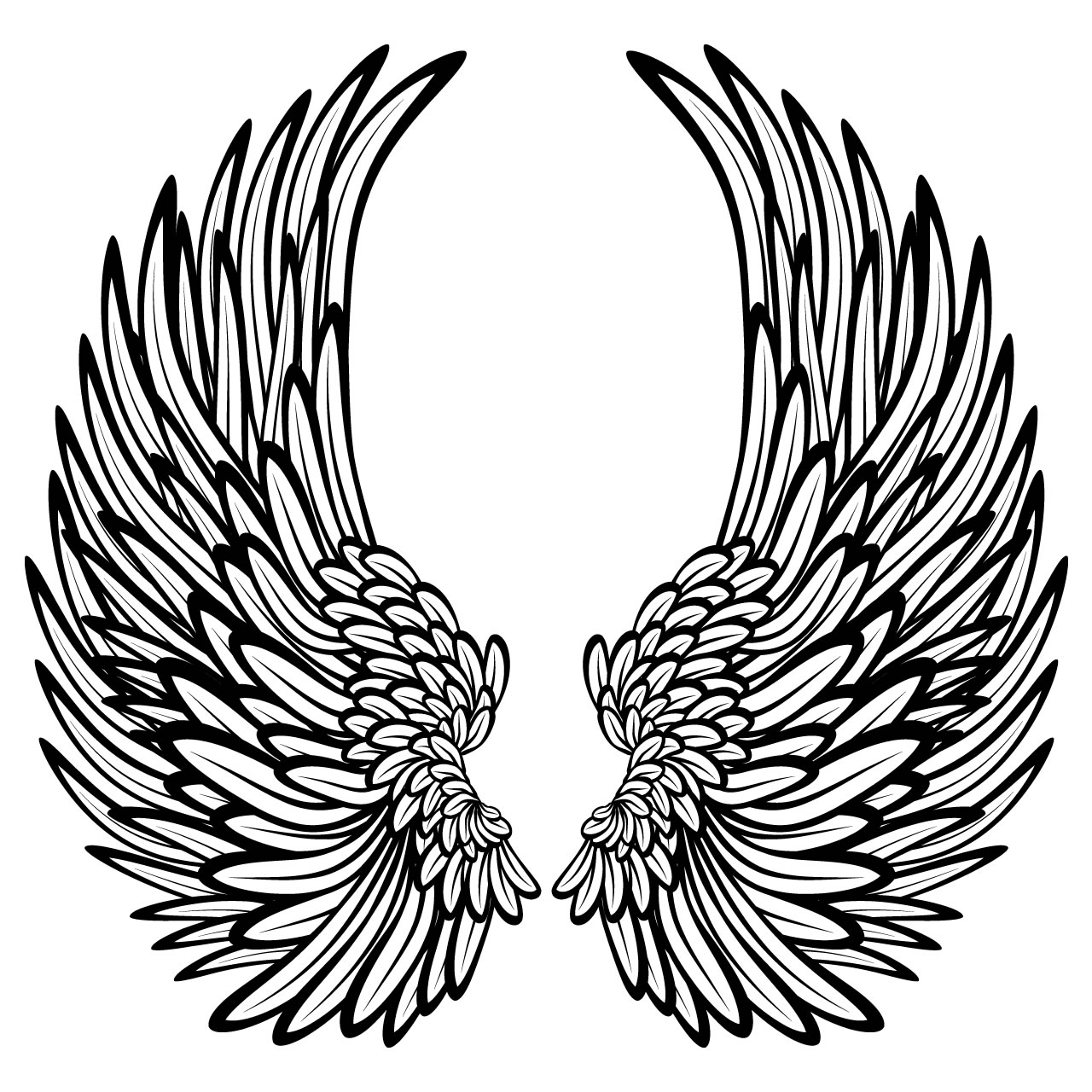 Angel Wings Printable for Coloring