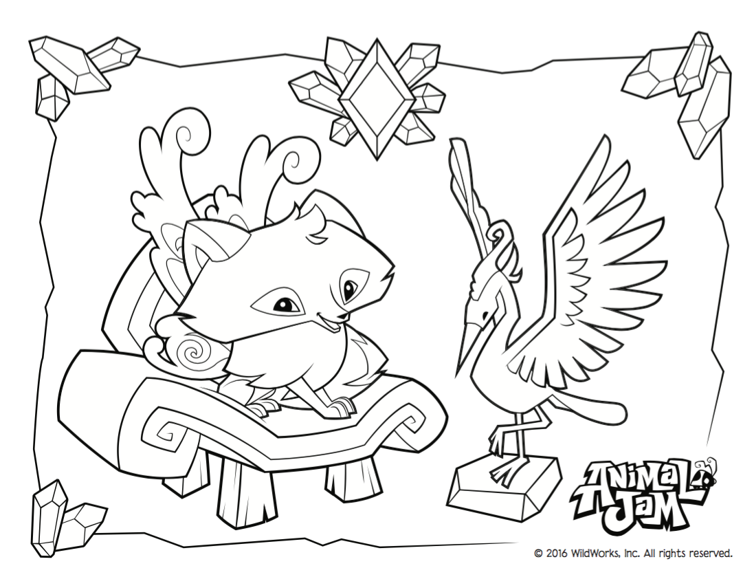 Animal Jam Coloring Page