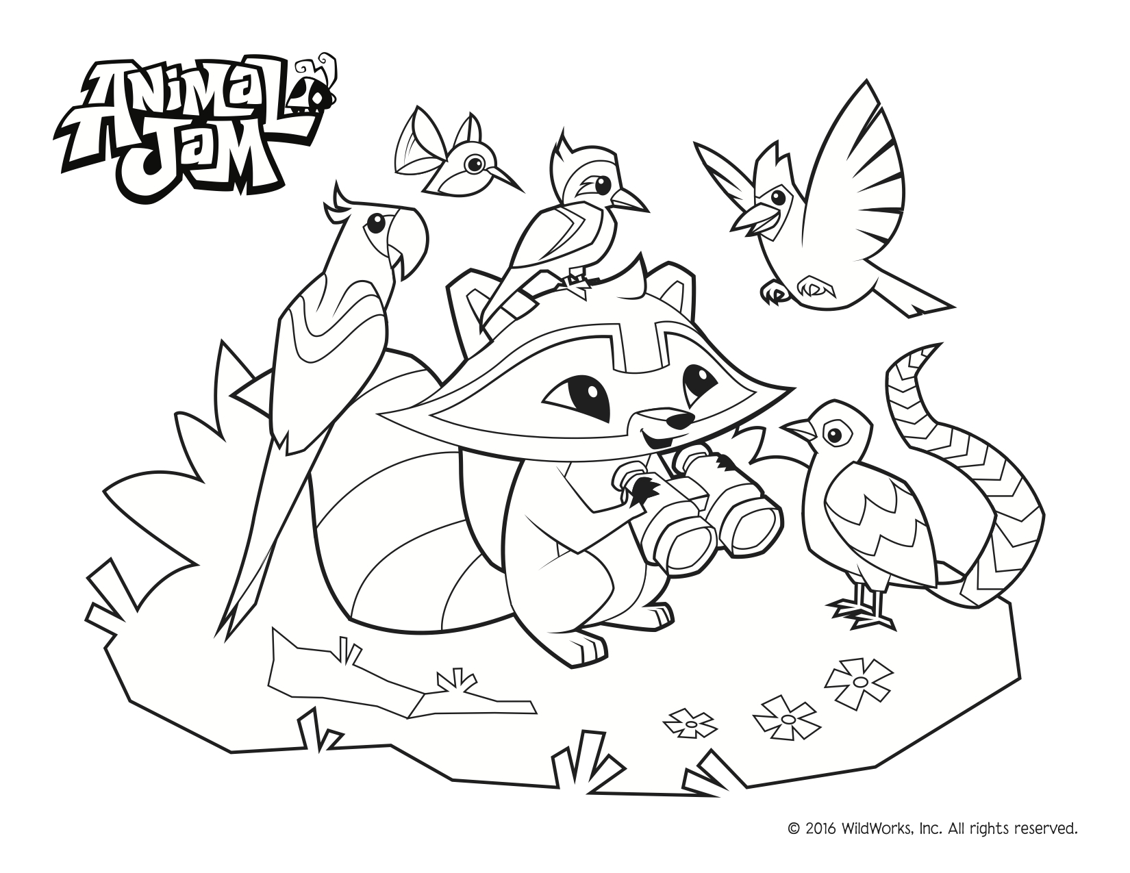 Animal Jam Coloring Pages Free coloring page To Print