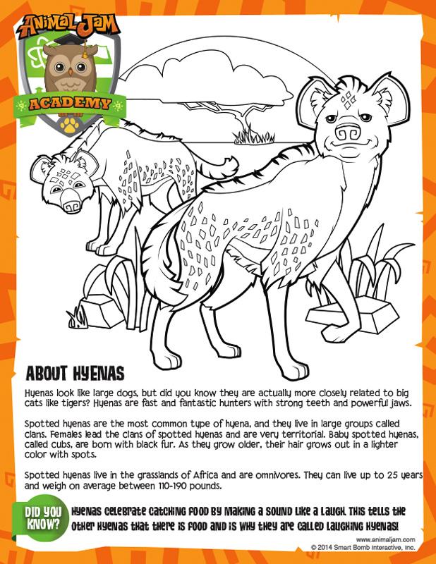 Animal Jam Hyena Page