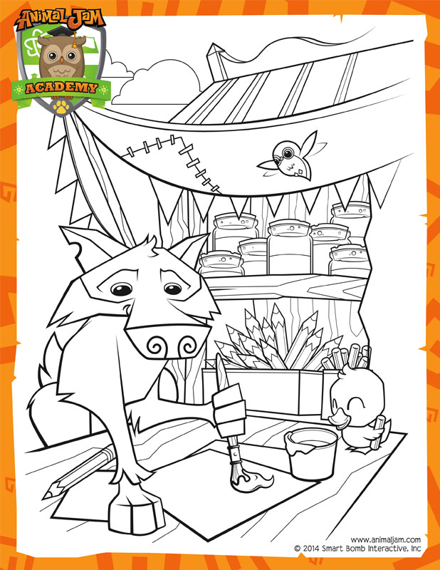 Animal Jam Painting Coloring Pages