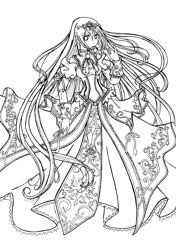 Anime Princess Coloring Page Printable