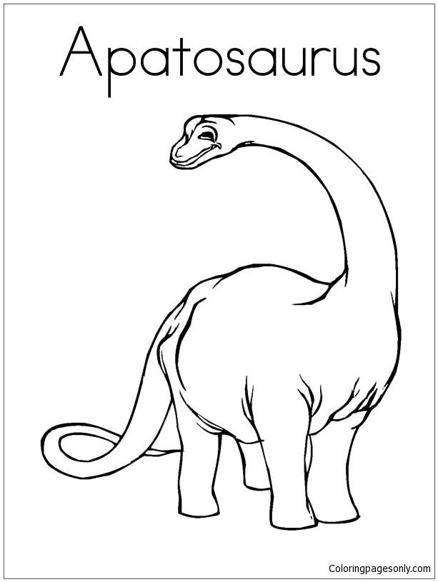 Apatosaurus Dinosaur Coloring Page