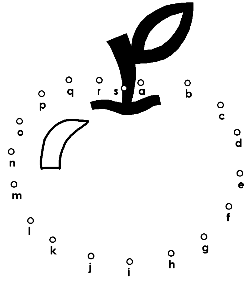 Apple Alphabet Dot to Dot Worksheet