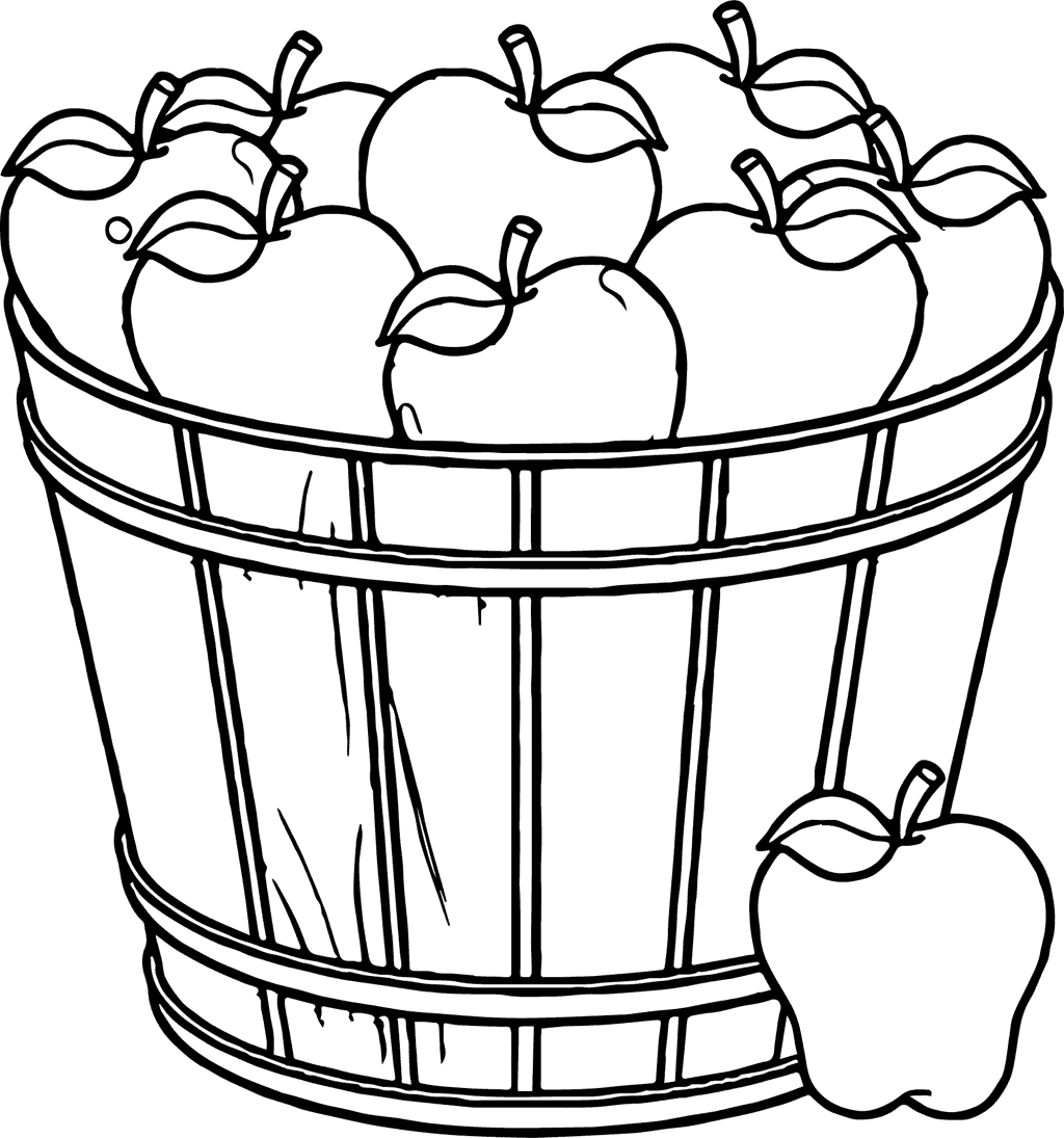 Apple Barrel Coloring Page