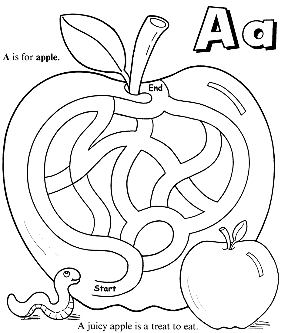 Apple Maze Worksheet