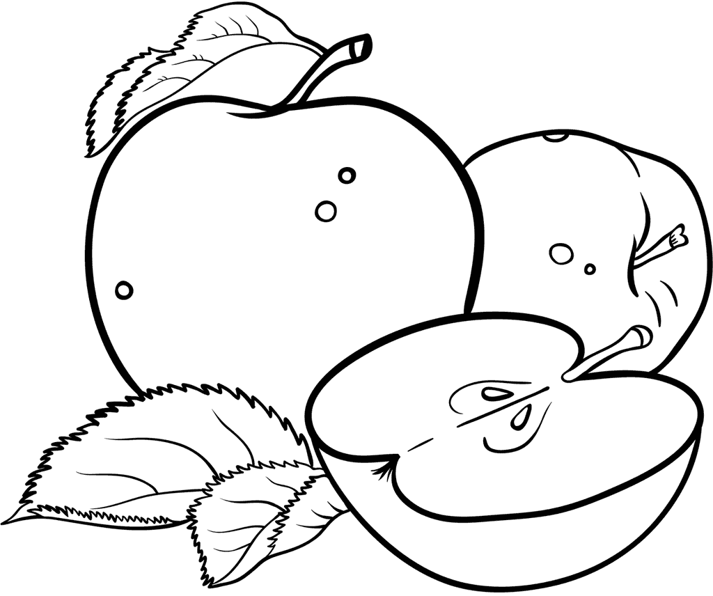 Apples Art Coloring Practice Page
