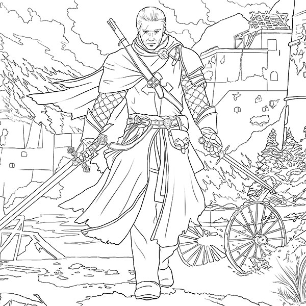 Assassins Creed Cool Coloring Pages