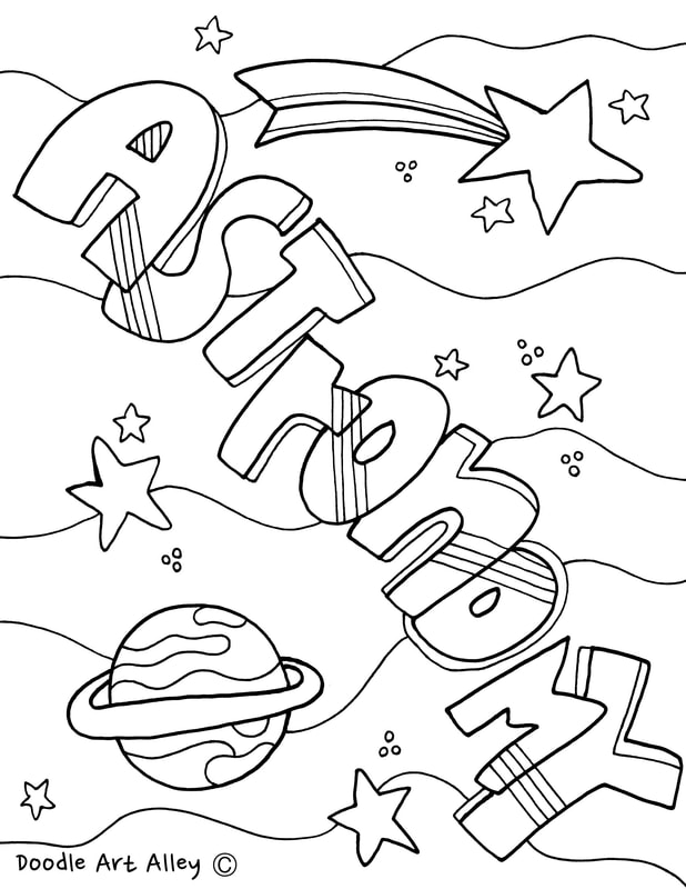 Astronomy Coloring Page