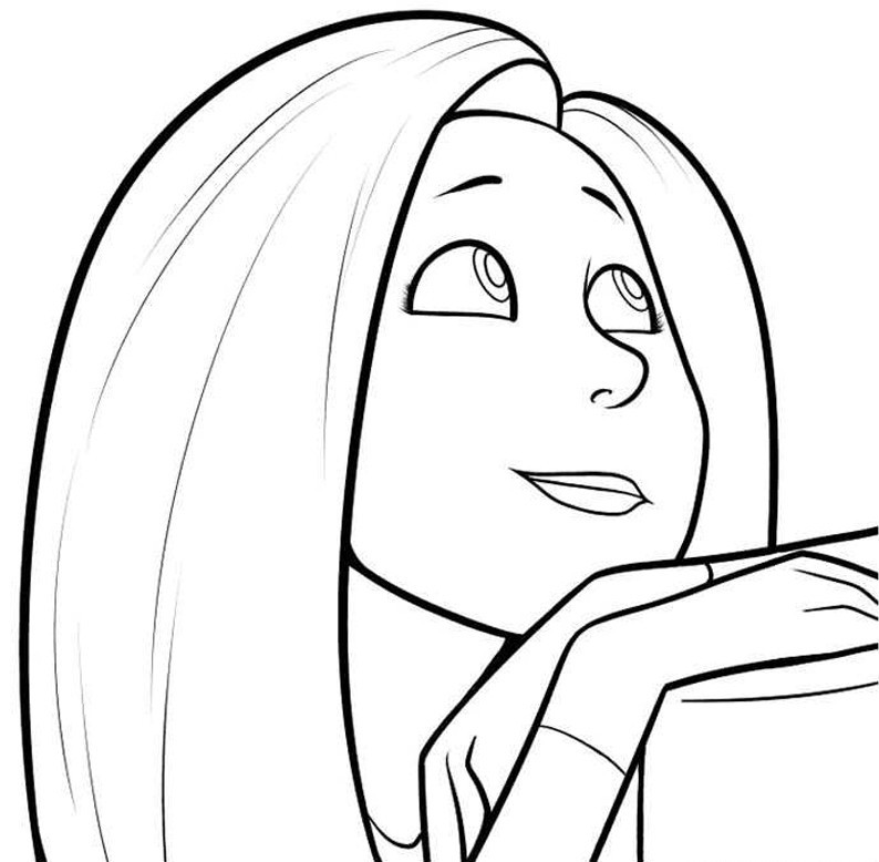 Audrey Lorax Coloring Page